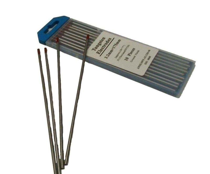 ELECTRODOS DE TUNGSTENO WT-20 DE 3/32 RED BLACKSET