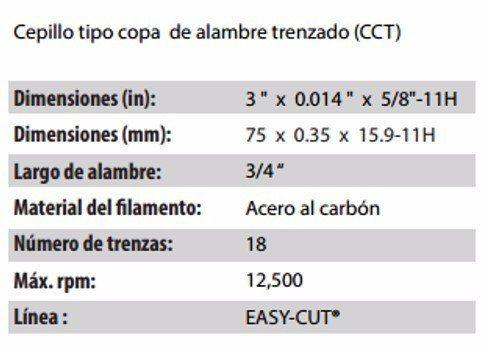 CEPILLO TIPO COPA CLAVE 2886