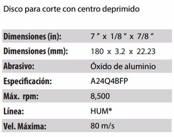 DISCO DE CORTE CLAVE 567. PAQUETE 5 PIEZAS